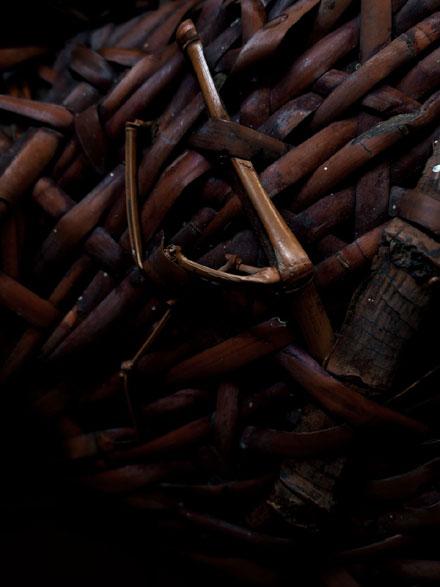 竹籠 BAMBOO BASKET 京都 骨董 アンティーク 古道具 古美術 Japanese Antiques