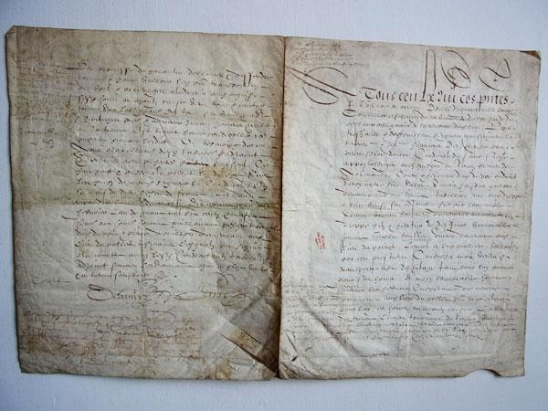 1609年フランス・羊皮紙 - donum...